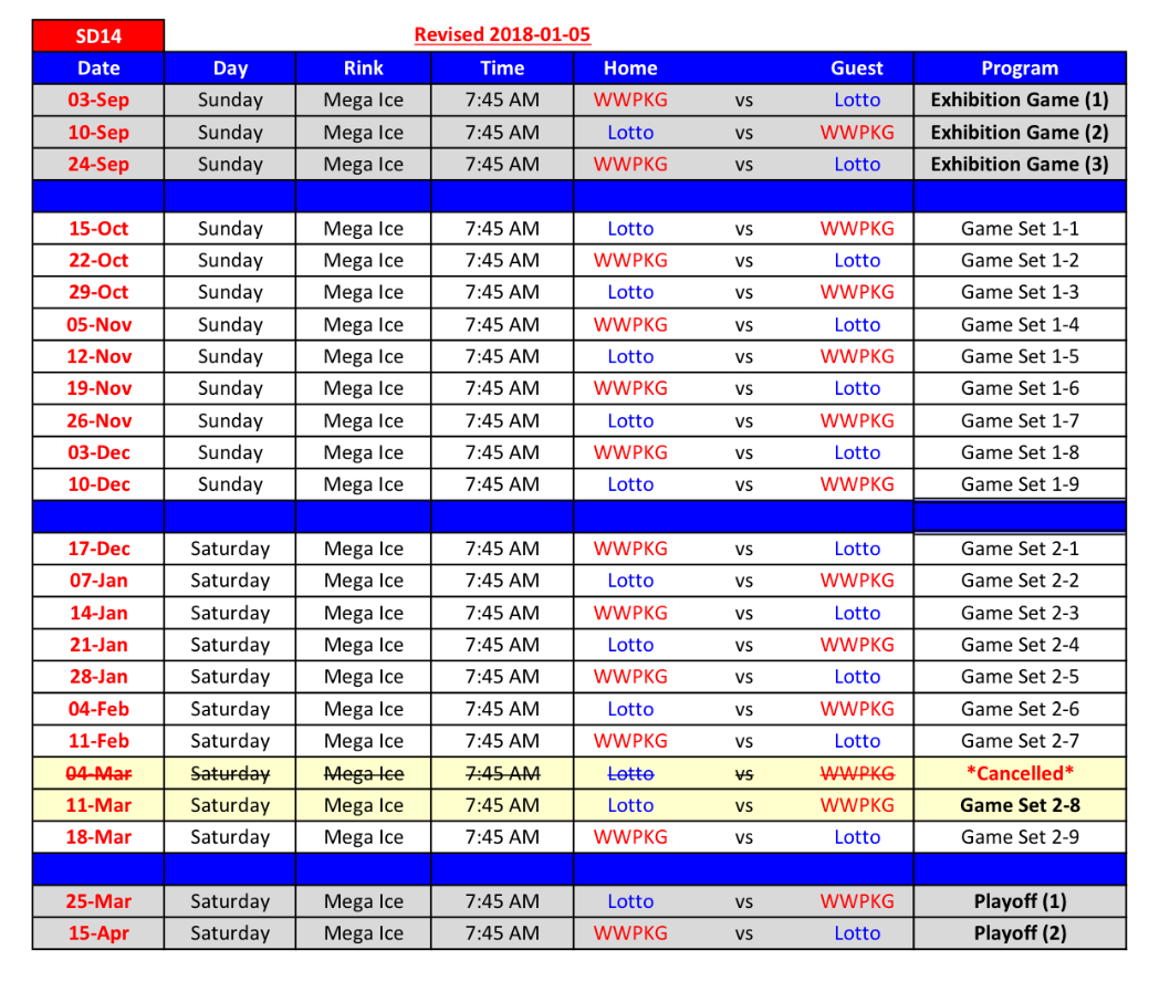 SD14 Game Schedule R3
